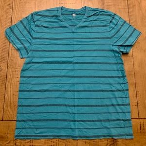 Men's Old Navy Turquoise Striped V-Neck